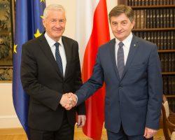 Spotkanie marszałka Sejmu z sekretarzem generalnym Rady Europy