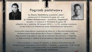 """Pogrzeb zamordowanych żołnierzy AK """"Inki"""" i """"Zagończyka"""""""