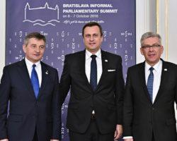 Marszałek Kuchciński w Bratysławie: Proponuję prawo do inicjatywy ustawodaw. dla parl. kilku państw działających wspólnie oraz do weta