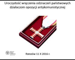 Marszałek Sejmu Marek Kuchciński nagrodzony za działalność antykomunistyczną