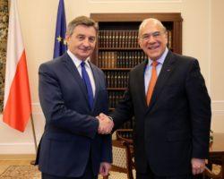 Spotkanie marszałka Sejmu z sekretarzem generalnym OECD