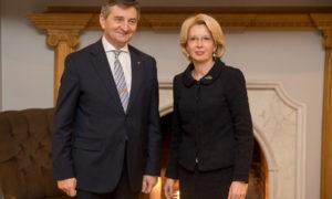 Bezpieczeństwo, przyszłość UE i relacje dwustronne – oficjalna wizyta marszałka Sejmu na Łotwie