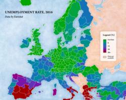 Mapa bezrobocia w Unii Europejskiej