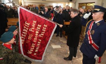 Lubaczów: przekazanie kopii sztandaru I Brygady Legionów przez marszałka Sejmu