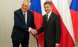 Marszałek Sejmu Marek Kuchciński spotkał się z prezydentem Czech Miloszem Zemanem