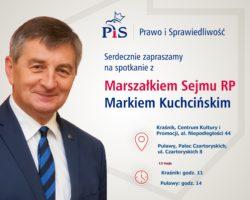 13 maja marszałek Sejmu spotka się z mieszkańcami Kraśnika i Puław