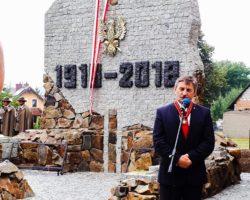 Marszałek Sejmu wziął udział w odsłonięciu pomnika poświęconego niepodległości Rzeczypospolitej