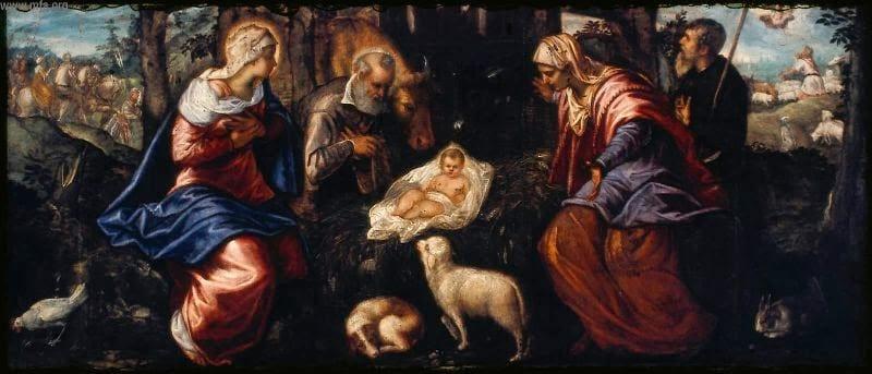 Jacopo Tintoretto Narodziny Jezusa