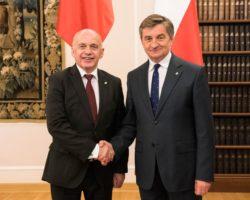 Spotkanie Marszałka Sejmu z Prezydentem Konfederacji Szwajcarskiej