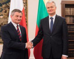 """""""Razem możemy zdziałać więcej"""". Prezydent Litwy z wizytą w Sejmie"""