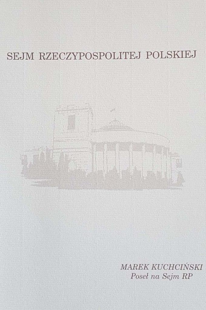 Podziękowanie Posła na Sejm RP Marka Kuchcińskiego złożone na ręce samorządowców bieszczadzkich